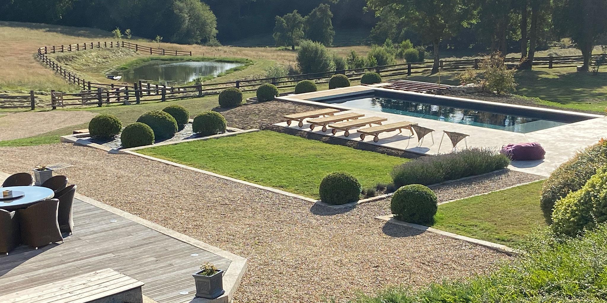 Bandeau piscine extérieure